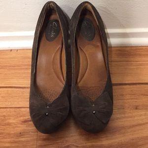 Brown Leather Clark Heels